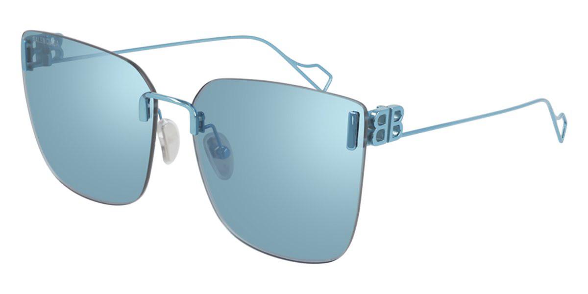 Balenciaga BB0112SA Asian Fit 003 Women's Sunglasses Blue Size 62