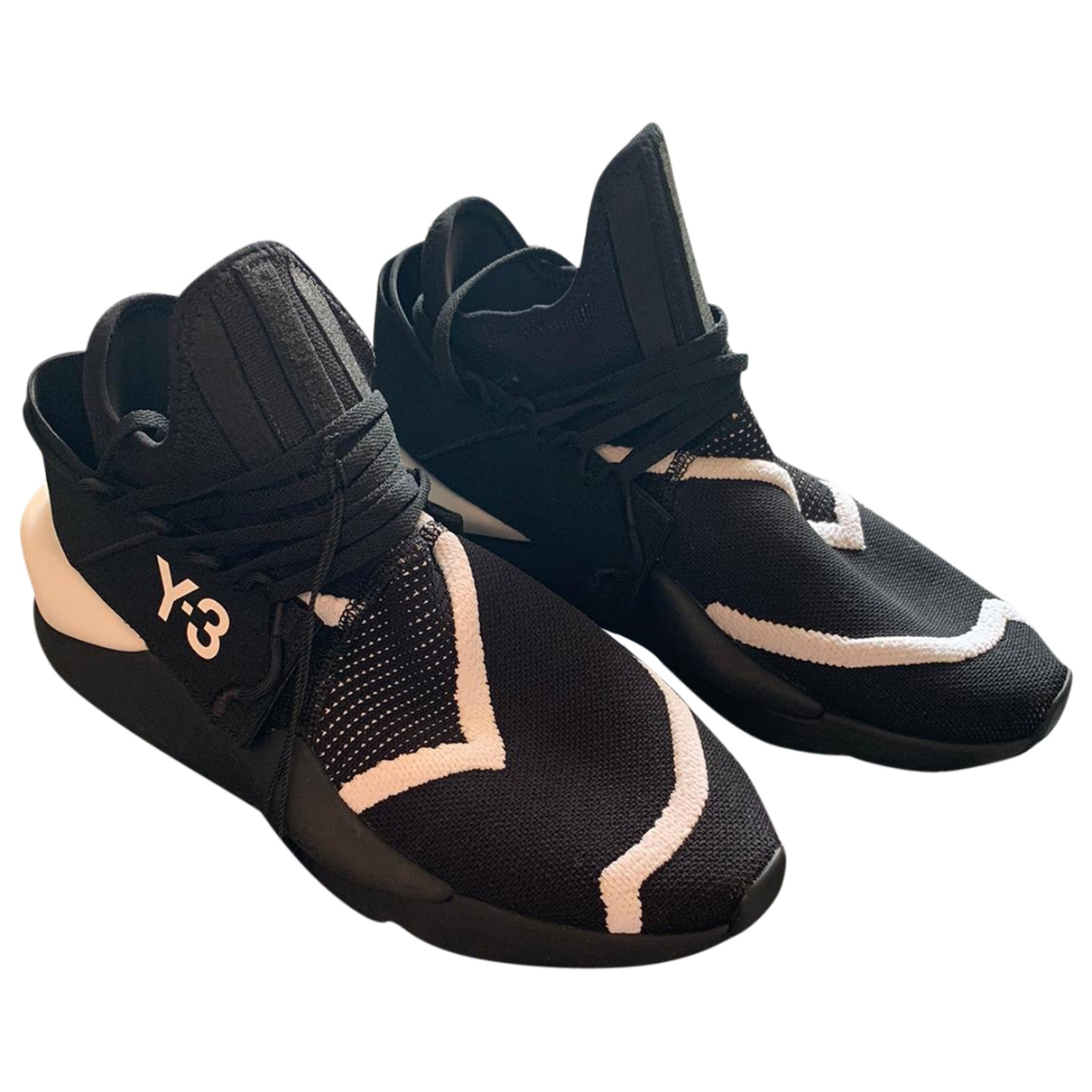 Y-3 - Baskets   pour homme en toile - noir