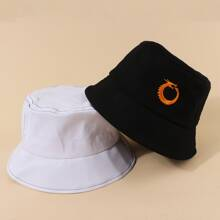 2pcs Chinese Dragon Embroidered Bucket Hat