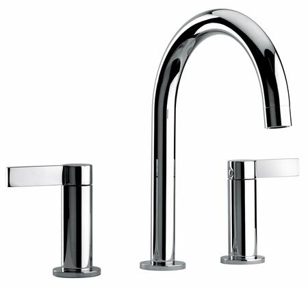 14214-72 Two Lever Handle Widespread Lavatory Faucet With Classic Spout  Polished Brass