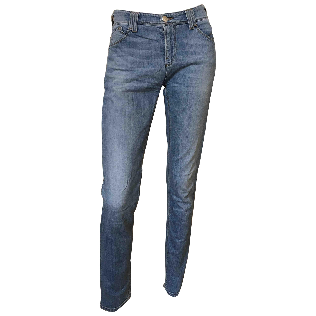 Armani Jeans \N Blue Cotton - elasthane Jeans for Women 28 US
