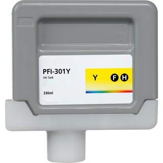 1PK Compatible PFI-301Y Ink Cartridge for Canon ImagePROGRAF iPF8000 8000S 9000 9000S (Pack of 1) (Yellow)