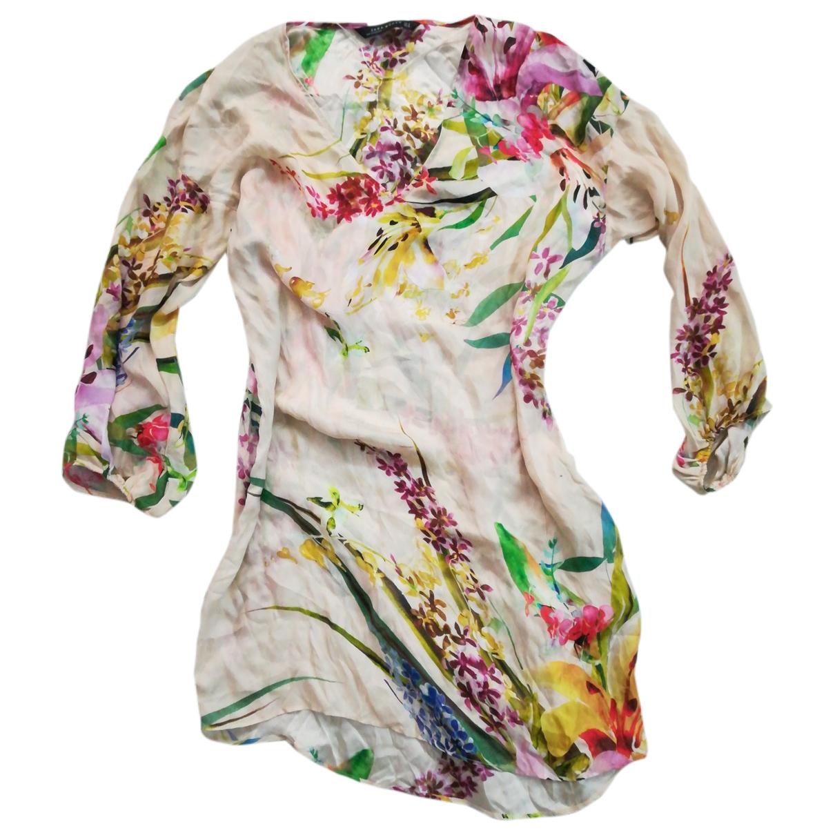 Zara \N Kleid in  Bunt Seide