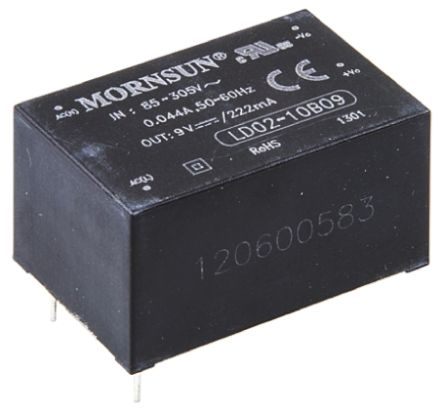 RS PRO , 2W Embedded Switch Mode Power Supply SMPS, 9V dc, Encapsulated
