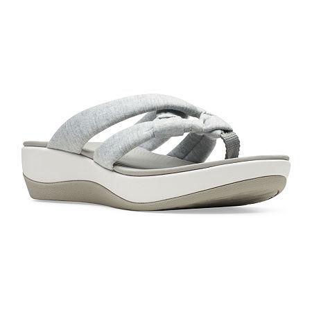 Clarks Womens Arla Jane Flip-Flops, 8 Medium, Gray