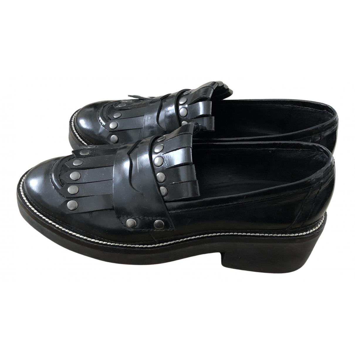 Ash \N Schnuerschuhe in  Schwarz Leder