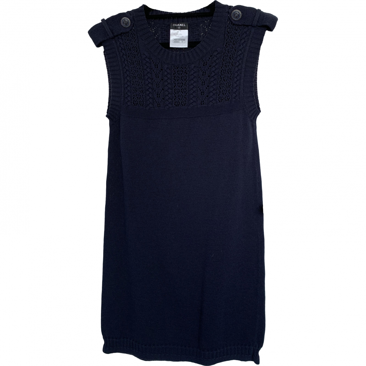 Chanel \N Navy Cotton dress for Women 34 FR