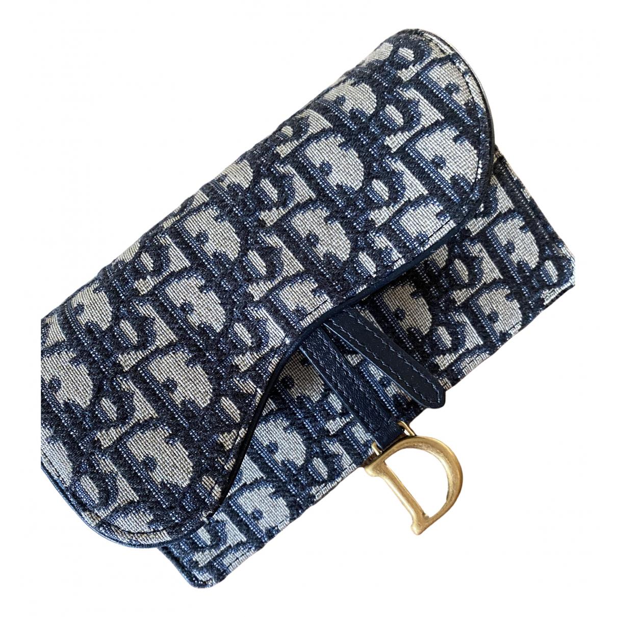 Dior Saddle Blue Cloth Clutch bag for Women \N