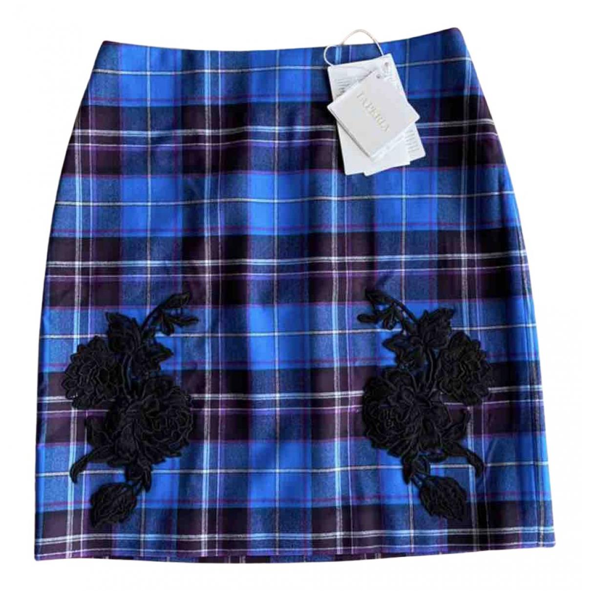 Mini falda de Lana La Perla