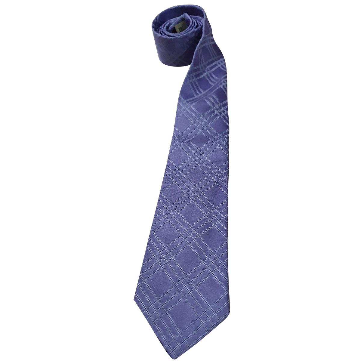 Burberry - Cravates   pour homme en soie - violet
