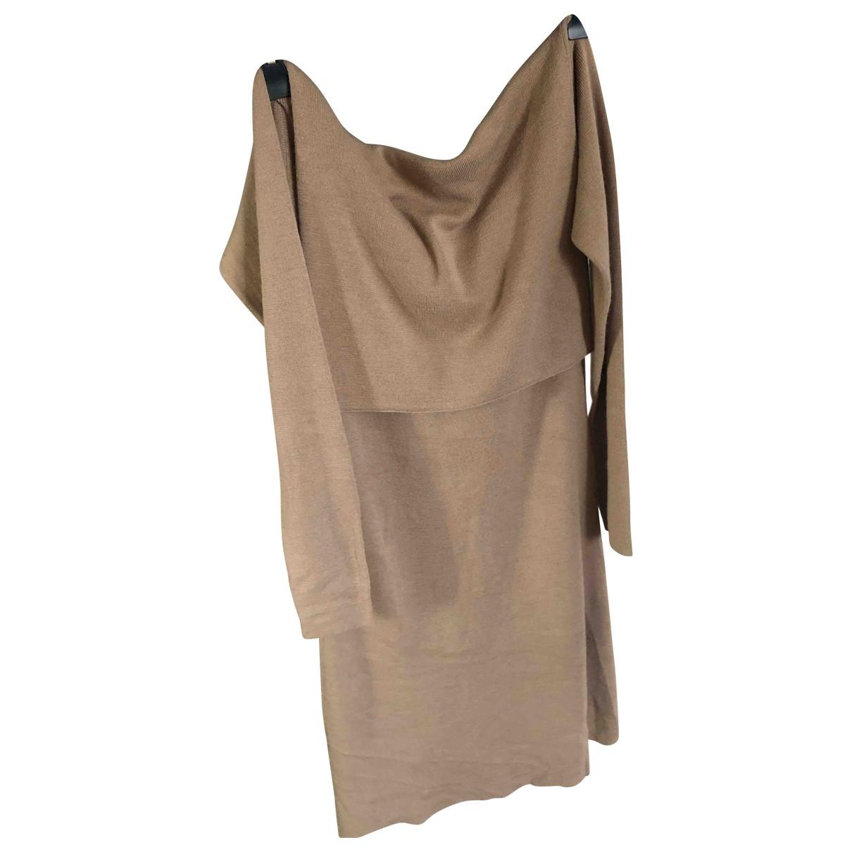 - Robe   pour femme en coton - camel
