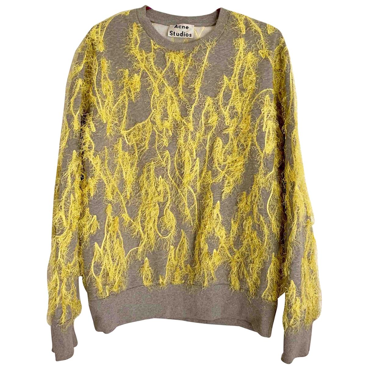 Acne Studios - Pull   pour femme en coton - jaune
