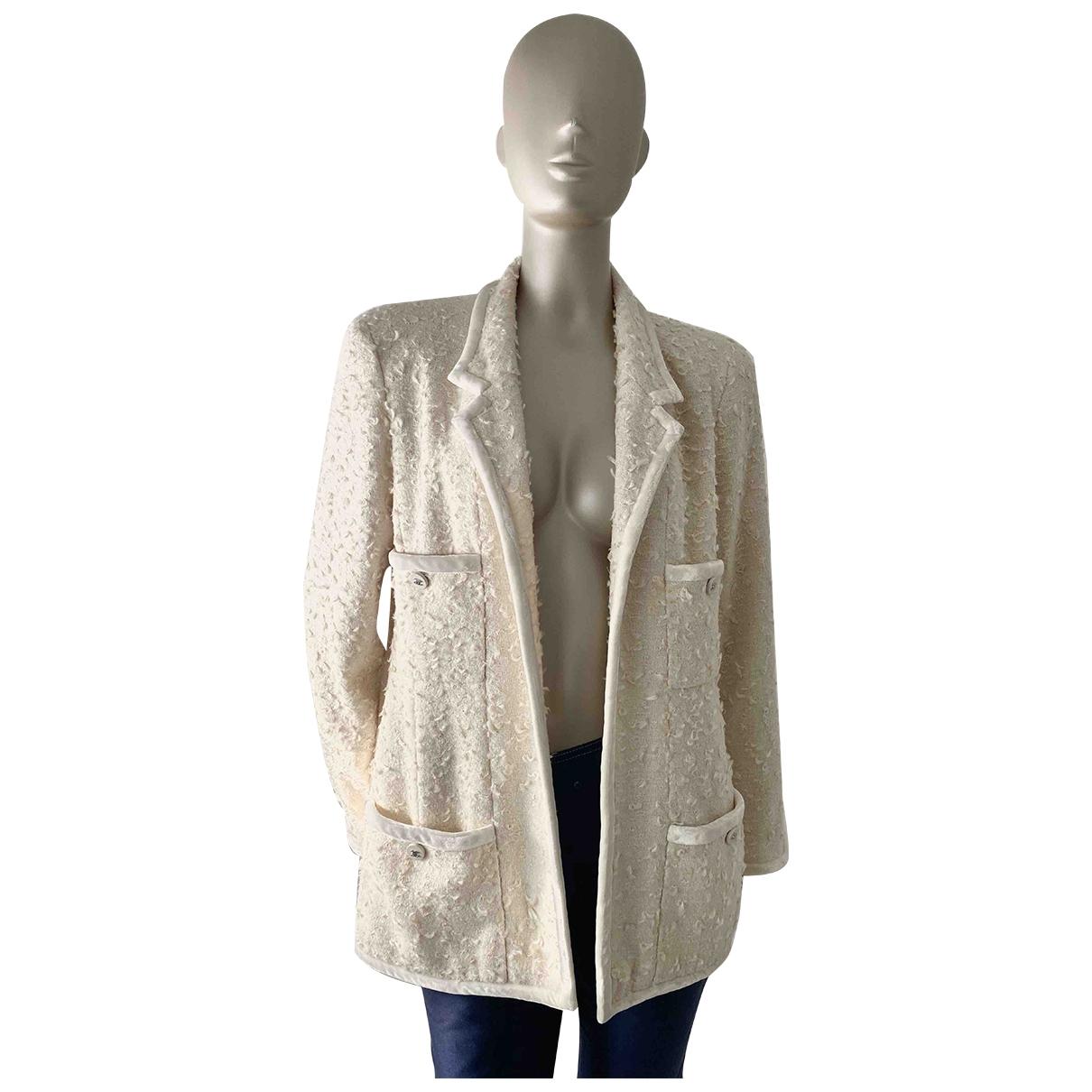 Chanel - Veste   pour femme en laine - blanc