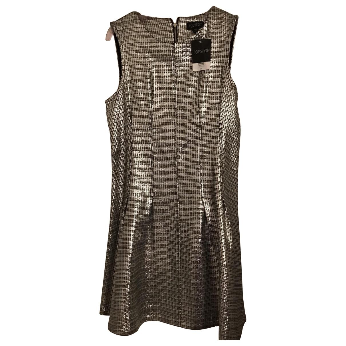 Tophop \N Kleid in  Metallic Polyester