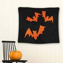 Halloween Tapisserie mit Fledermaus Muster