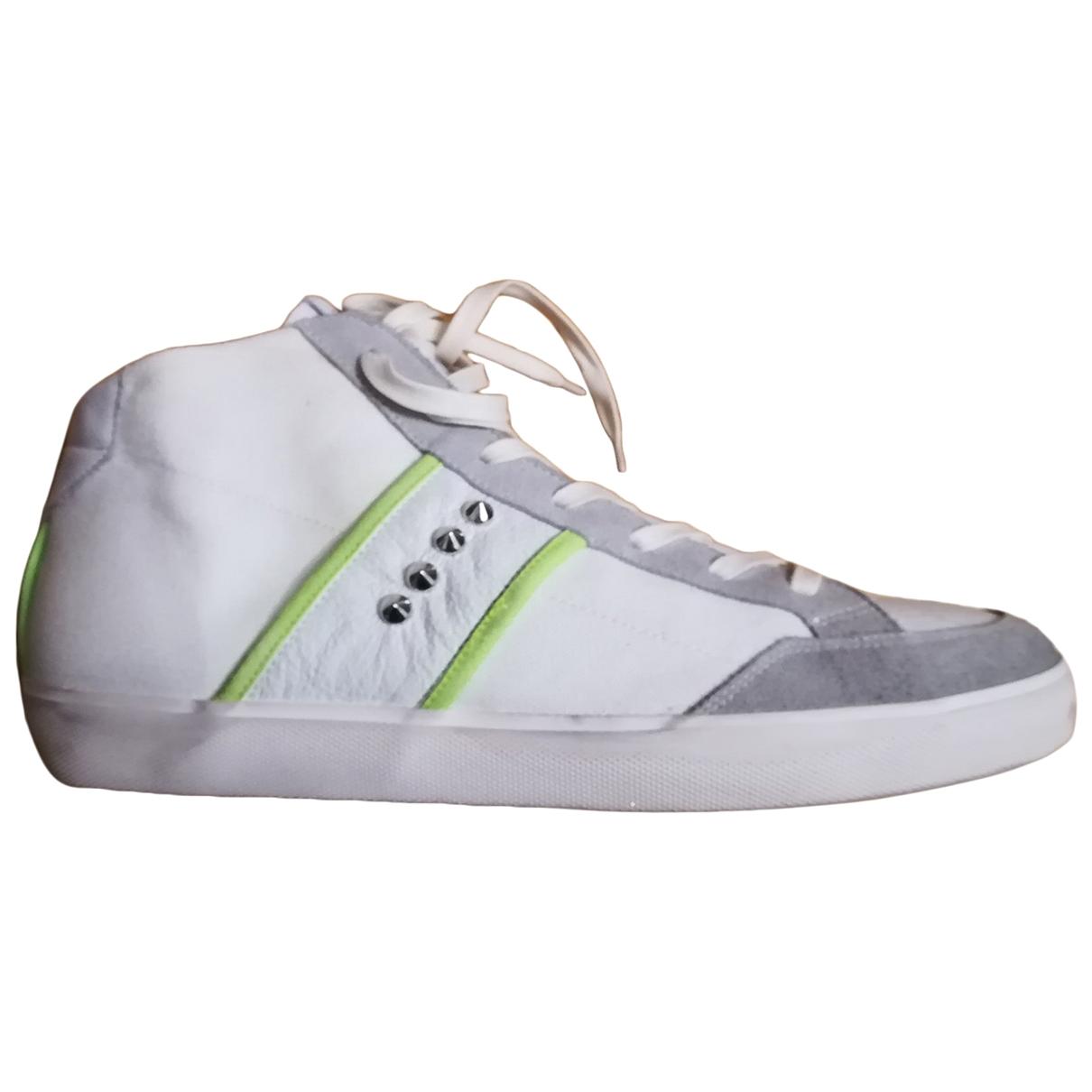 Leather Crown - Baskets   pour homme en autre - blanc