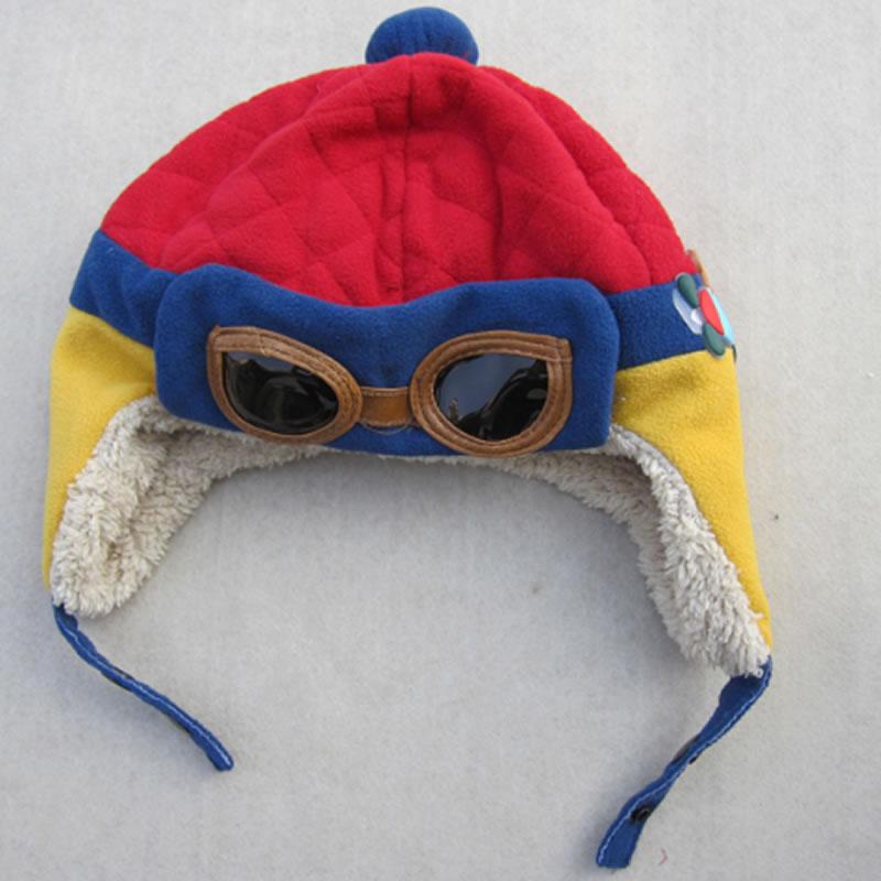 Boys Winter Warm Pilot Crochet Earflap Hats