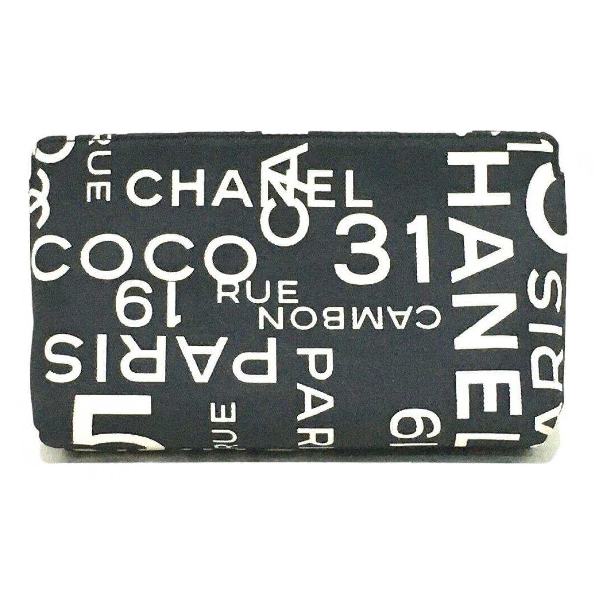 Chanel - Pochette   pour femme en toile - noir