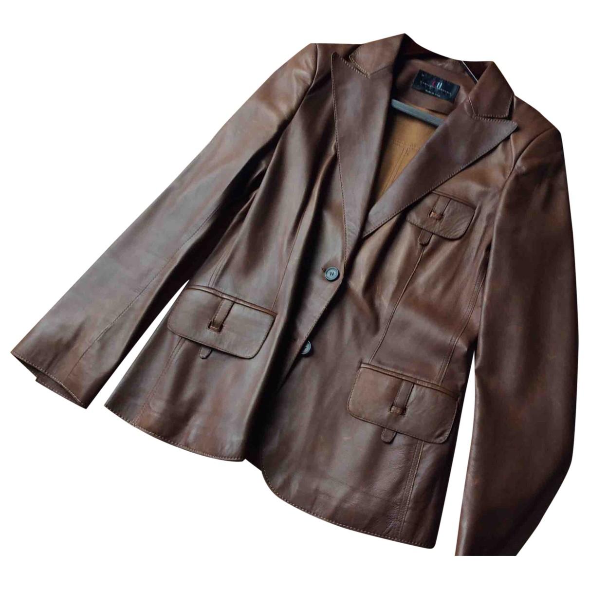 Carolina Herrera \N Brown Leather jacket for Women 10 US