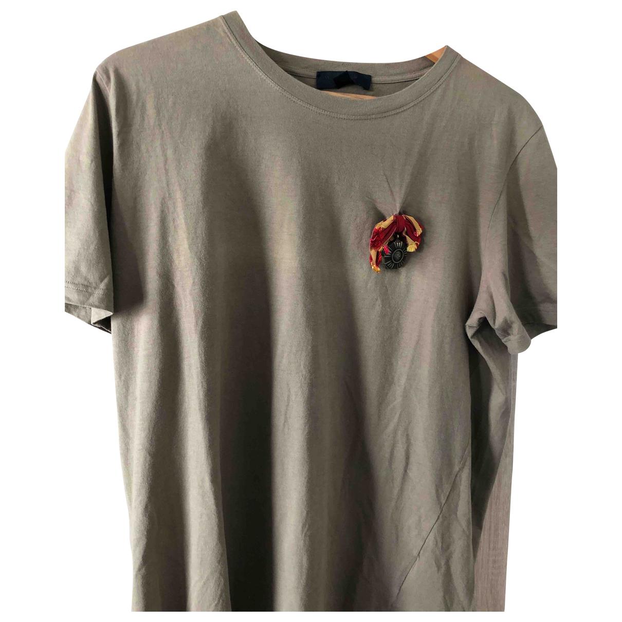 Burberry - Tee shirts   pour homme en coton - kaki
