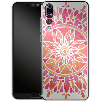 Huawei P20 Pro Silikon Handyhuelle - Mandala Pink Ombre von Cat Coquillette