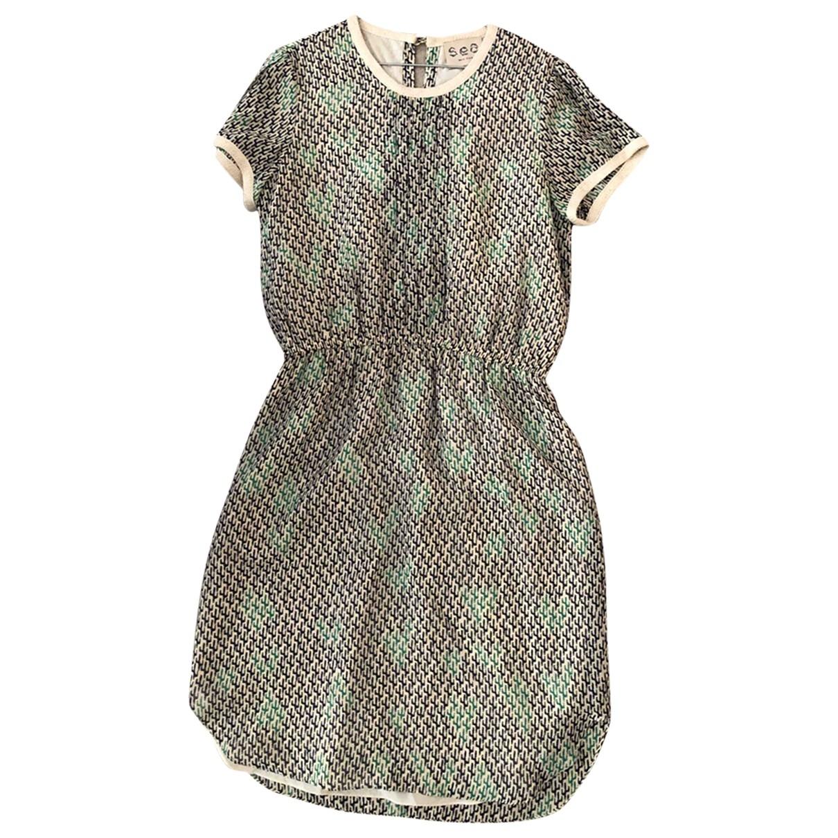 Sea New York - Robe   pour femme en soie - vert