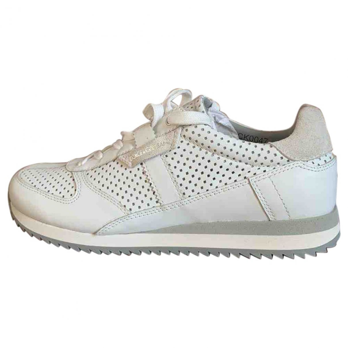 Dolce & Gabbana \N White Leather Trainers for Women 39 IT