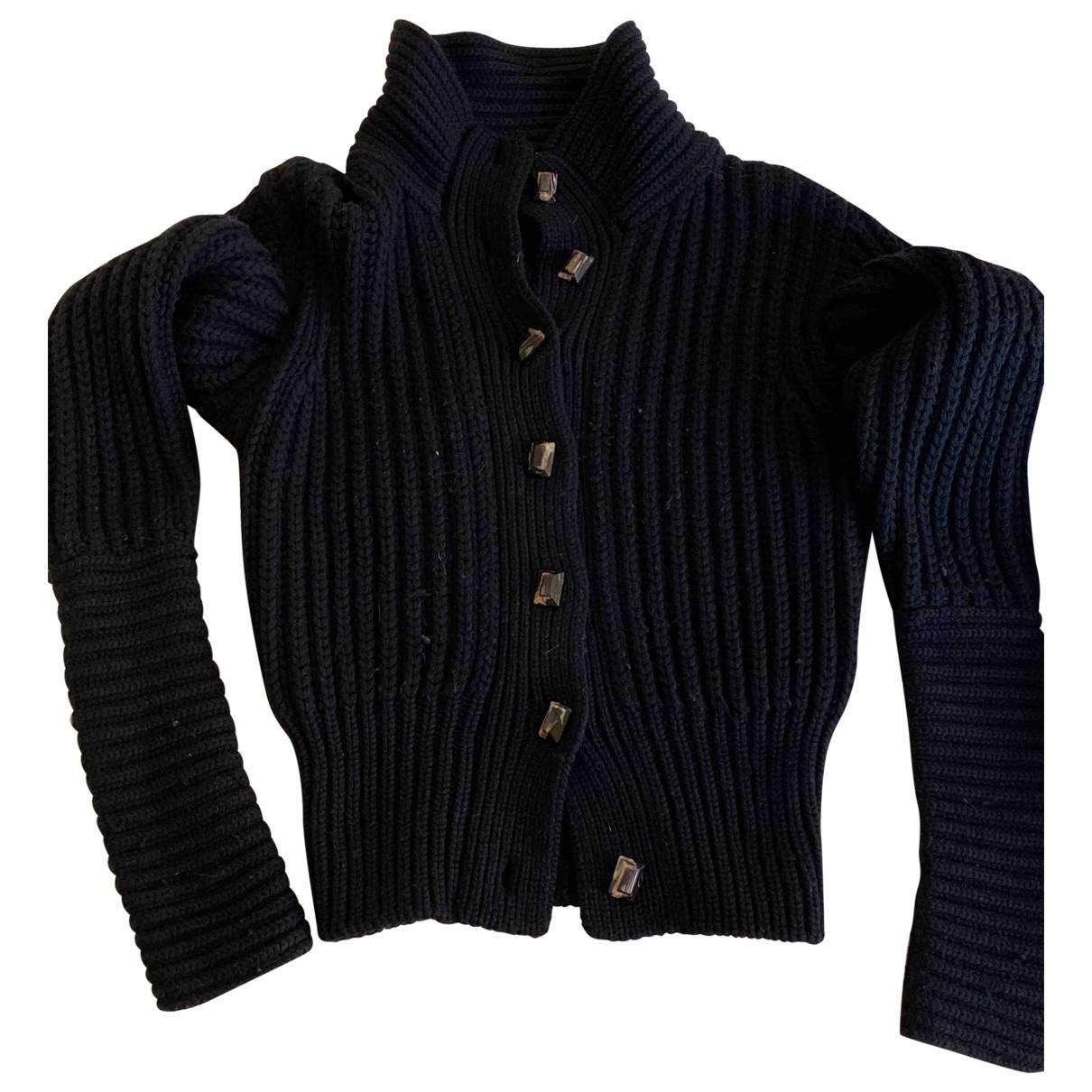 Trussardi \N Black Wool Knitwear for Women 38 IT