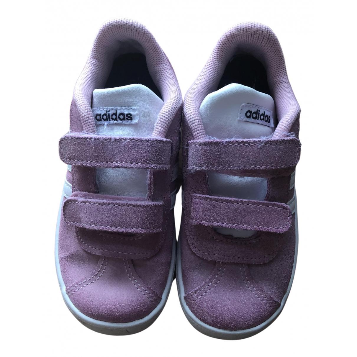 Adidas - Baskets   pour enfant en cuir - rose