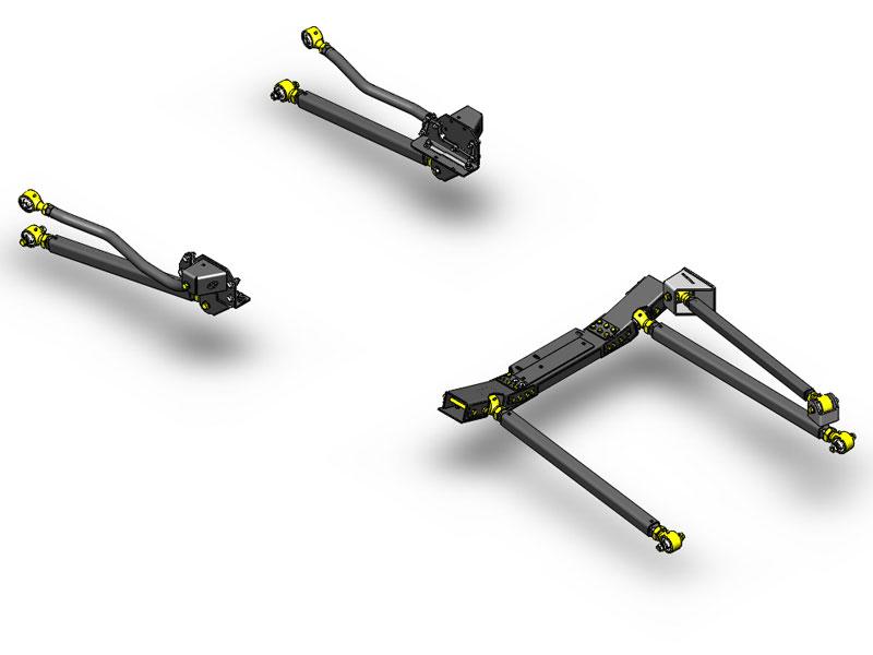 JK Pro Series 3 Link Long Arm Upgrade Kit 12-15 Clayton Offroad COR-4808432-COR