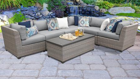 FLORENCE-07b Florence 7 Piece Outdoor Wicker Patio Furniture Set 07b with 1 Cover in