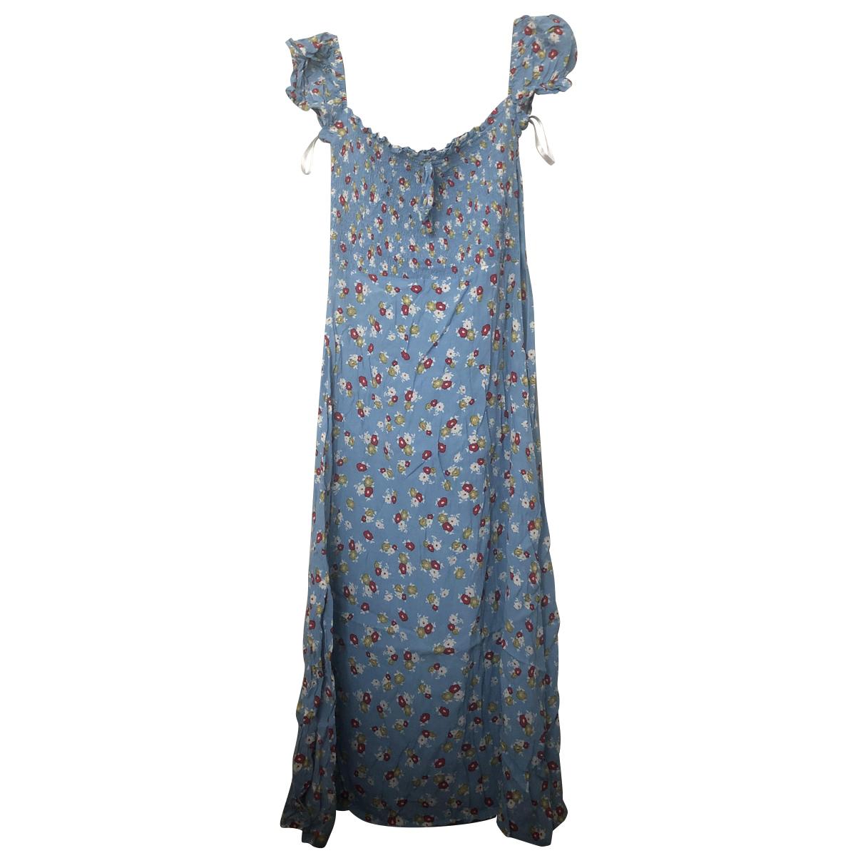 Faithfull The Brand N Blue Cotton - elasthane dress for Women 4 US