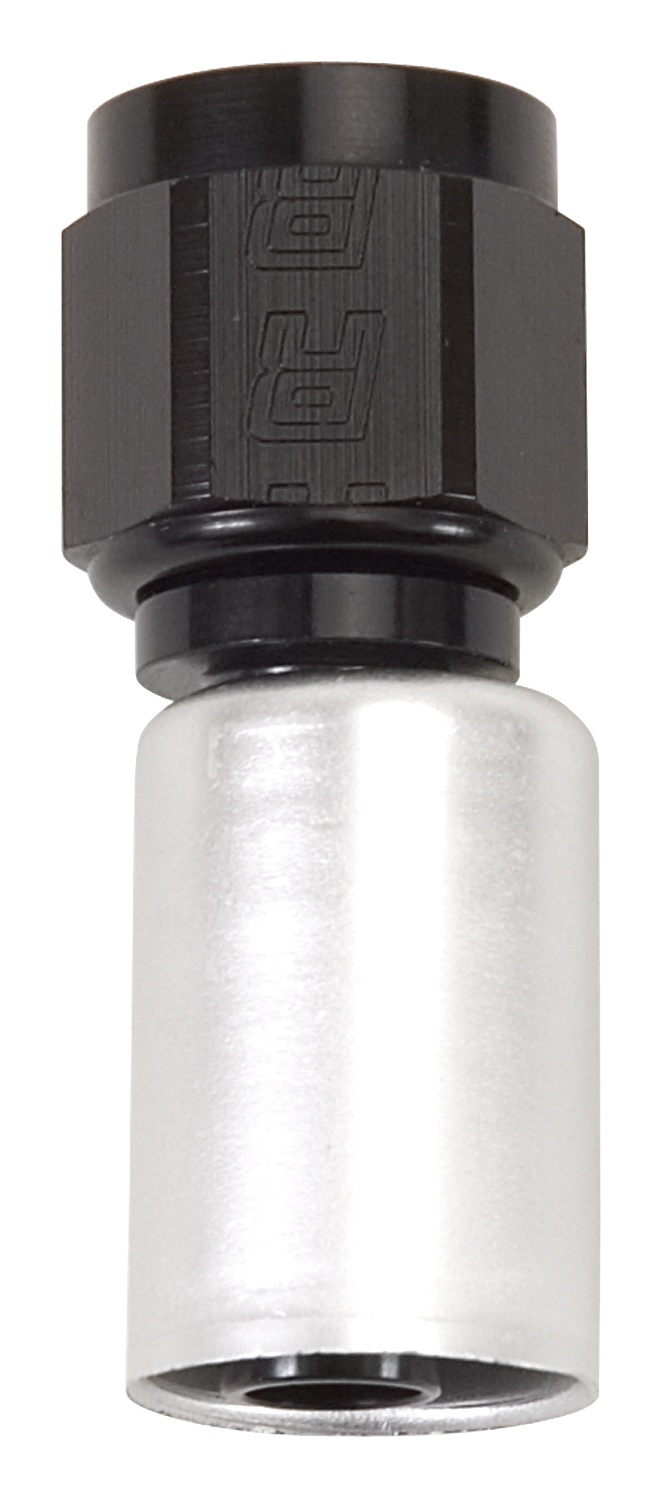 Russell HOSE END #8 CRIMP ON STRAIGHT BLK/CLR