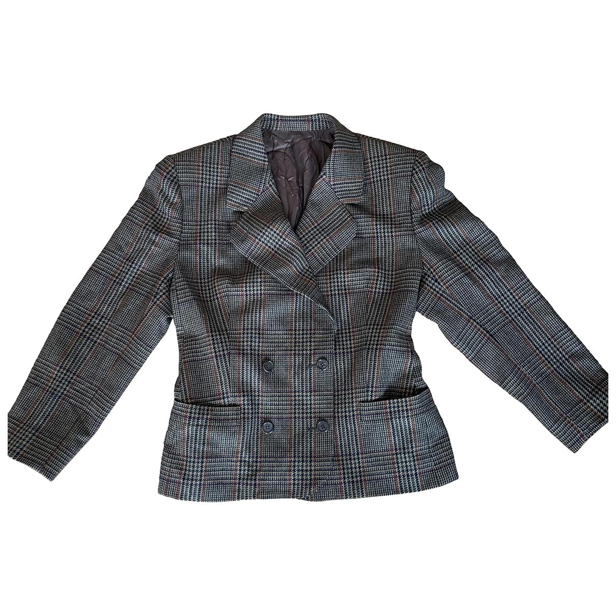 Burberry \N Brown Wool jacket for Women 44 FR