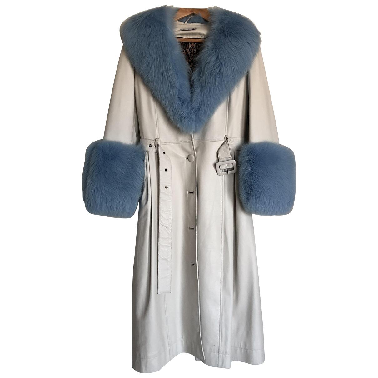 Saks Potts - Manteau   pour femme en cuir - blanc