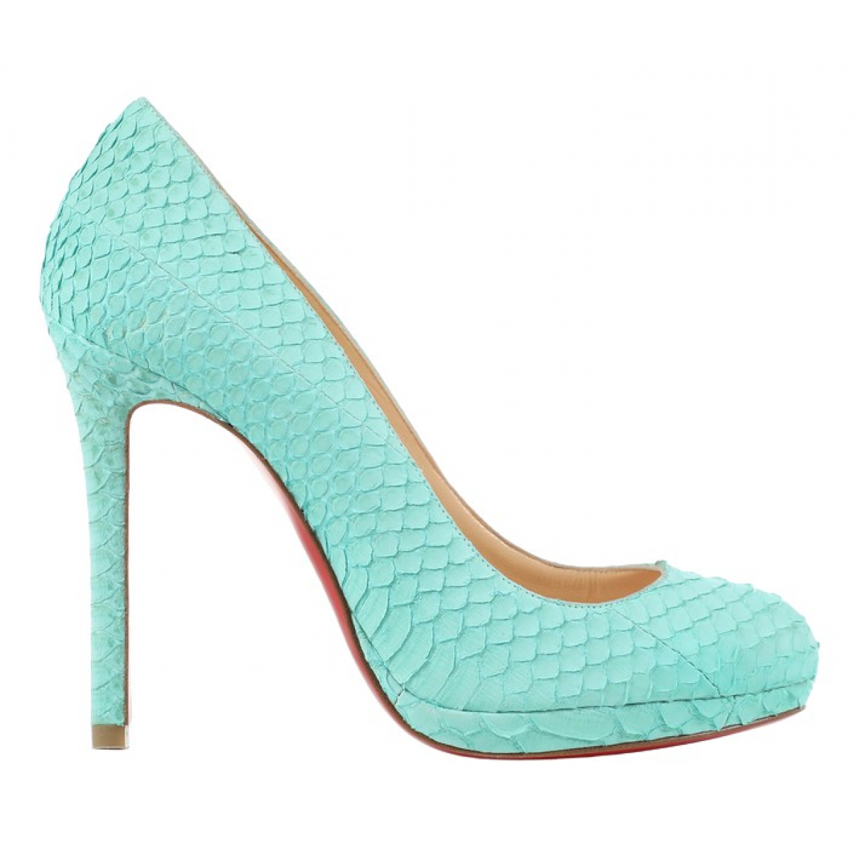 Christian Louboutin \N Turquoise Leather Heels for Women 35 EU