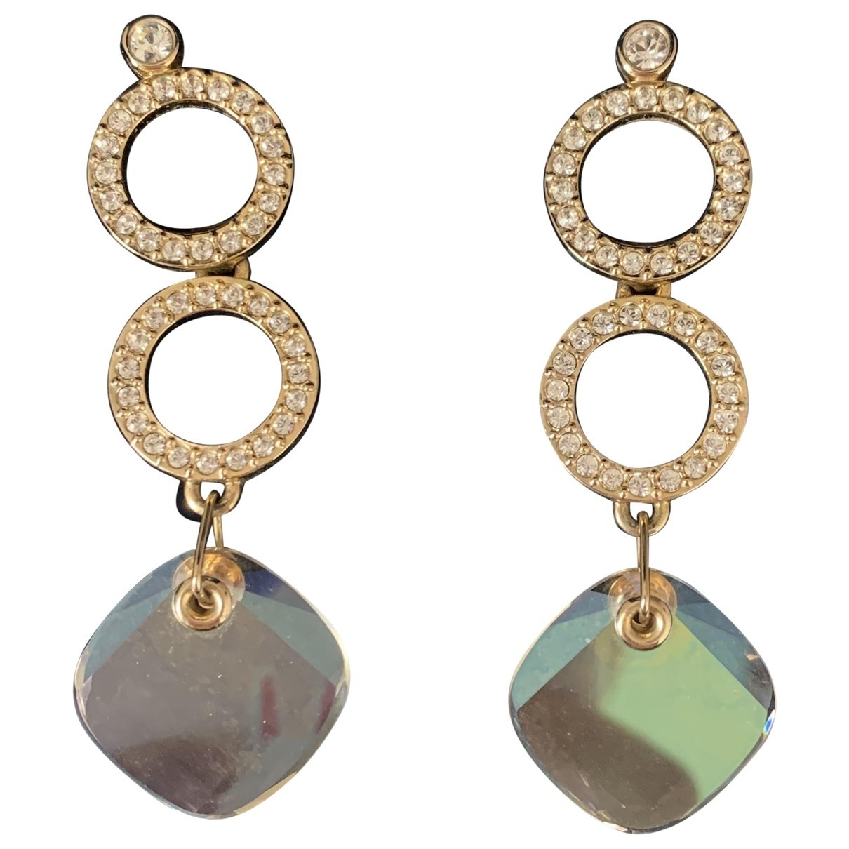 Swarovski \N Gold Crystal Earrings for Women \N