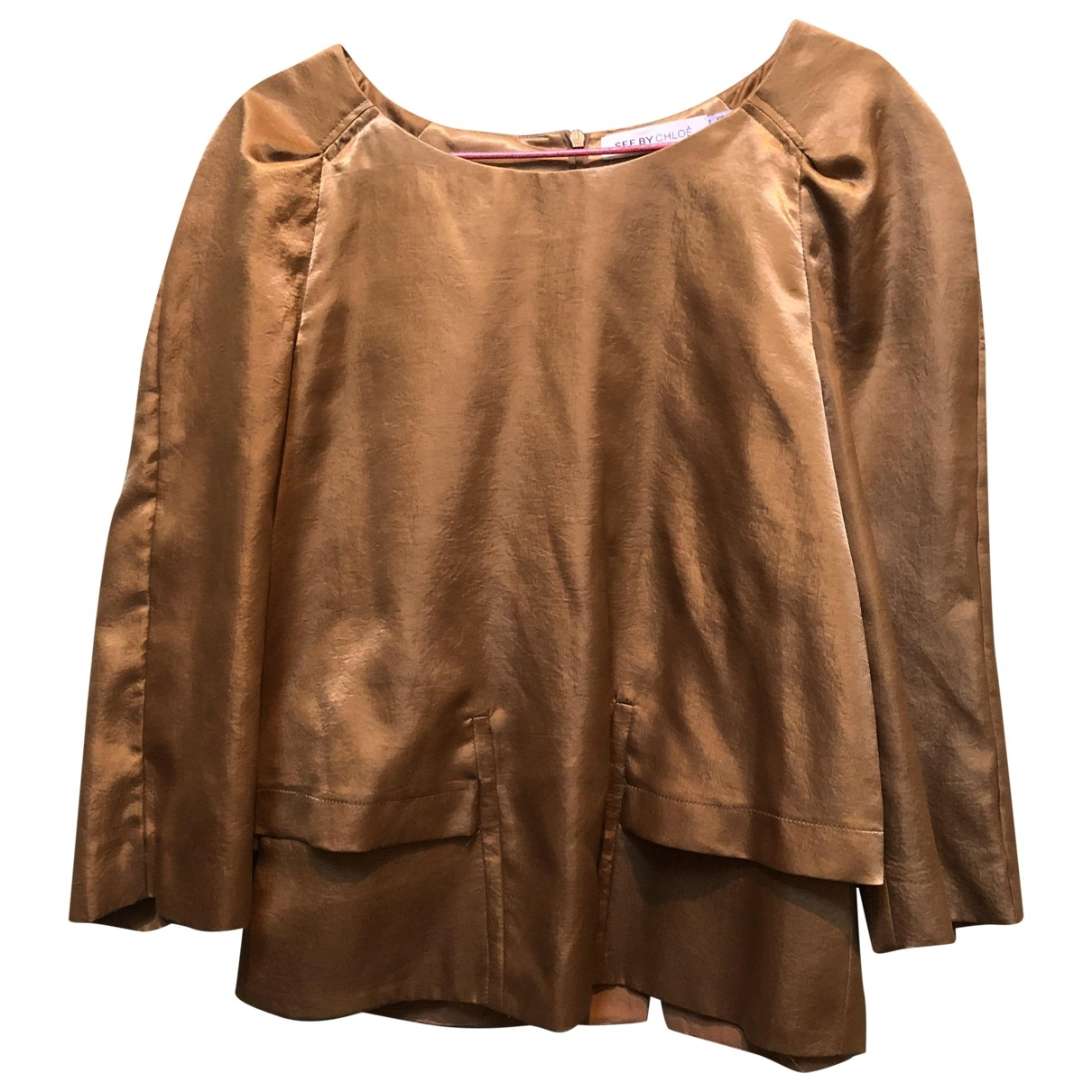 See By Chloe - Top   pour femme - dore