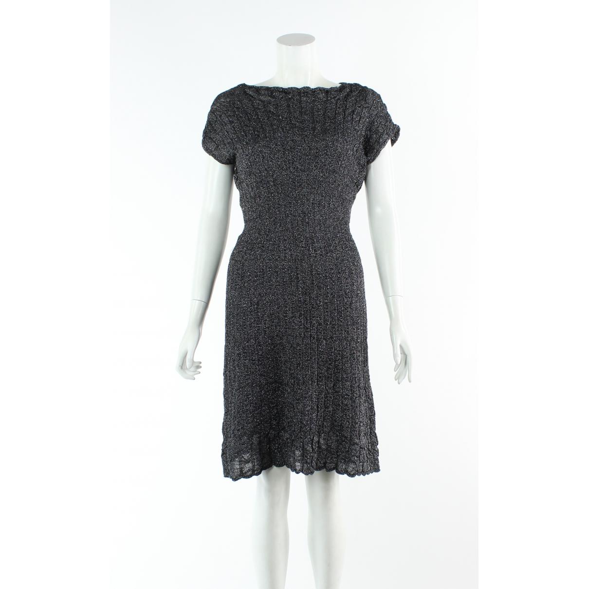 M Missoni \N Kleid in  Silber Leder