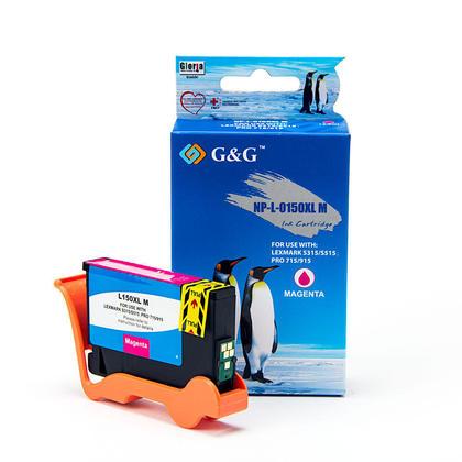 Lexmark 150XL 14N1616 cartouche d'encre compatible magenta haute capacité - G&G™