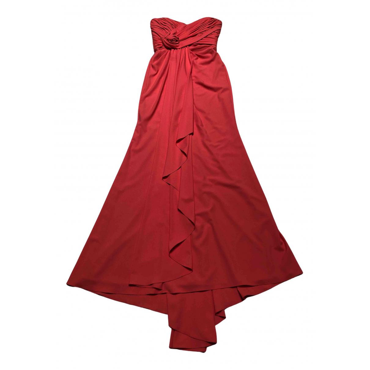 Badgley Mischka \N Kleid in  Orange Polyester