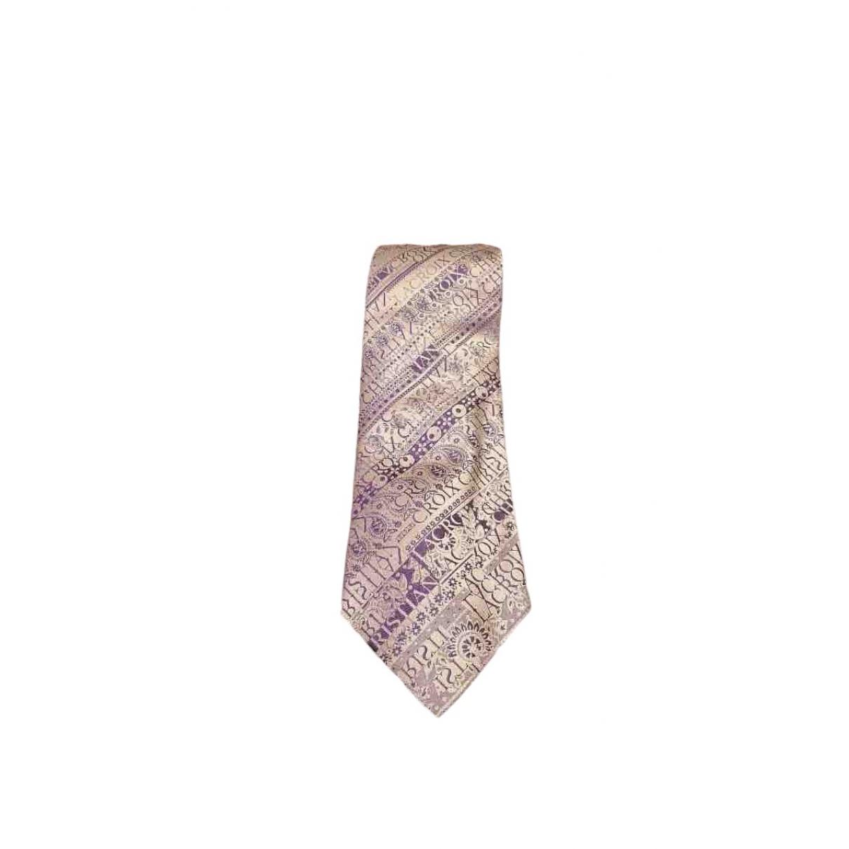 Christian Lacroix \N Purple Silk Ties for Men \N