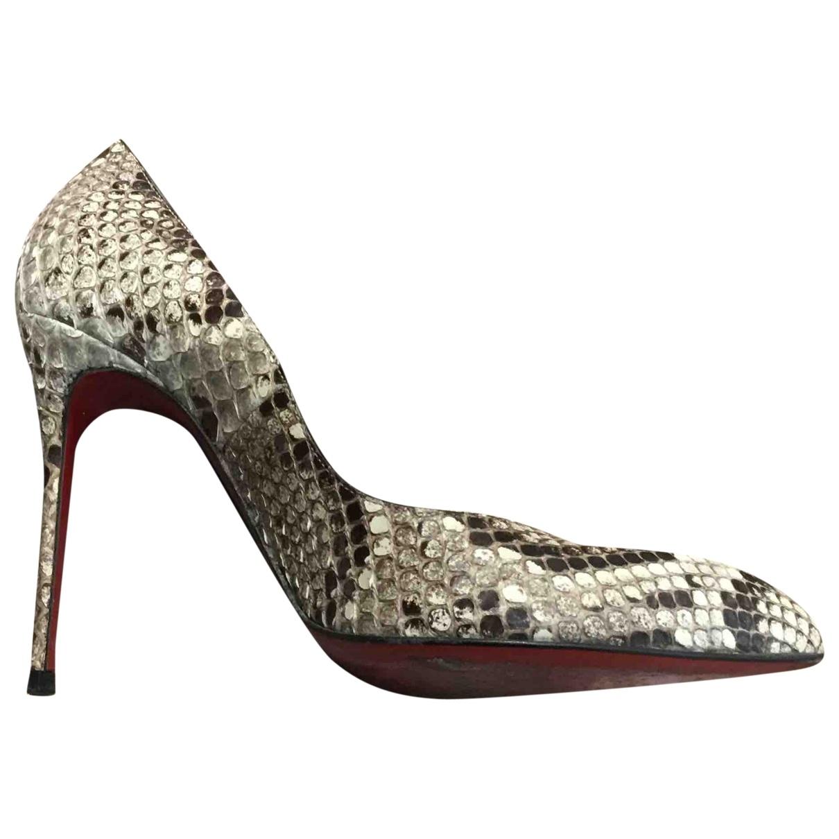 Christian Louboutin So Kate  Grey Water snake Heels for Women 38 EU