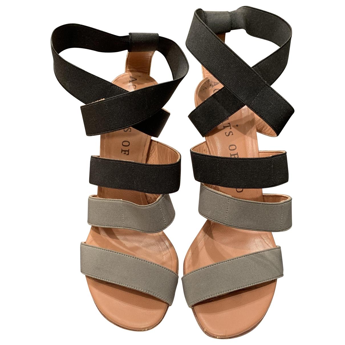 Nicole Brundage \N Grey Cloth Heels for Women 40 EU