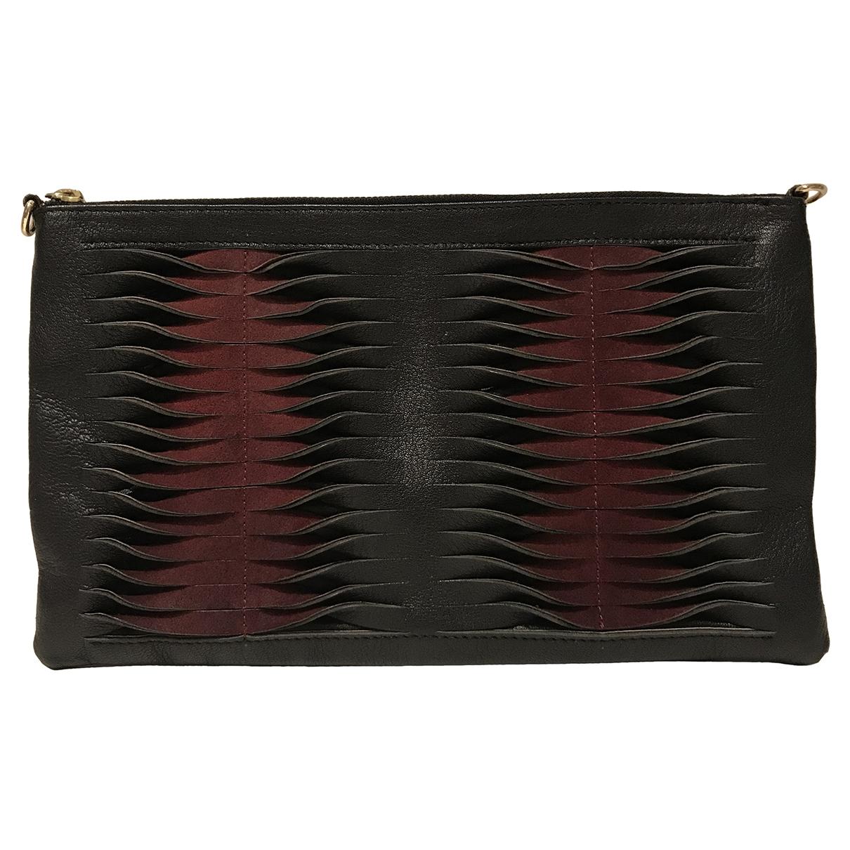 Topshop - Pochette   pour femme en cuir - noir
