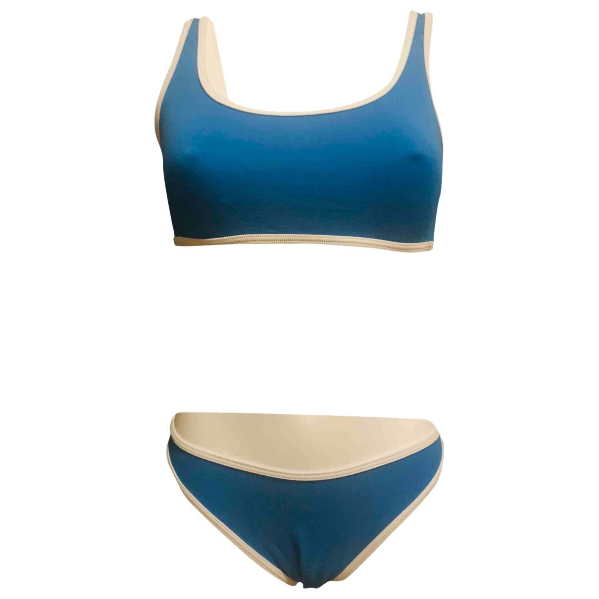 Fendissime - Bain   pour femme en coton - elasthane - turquoise