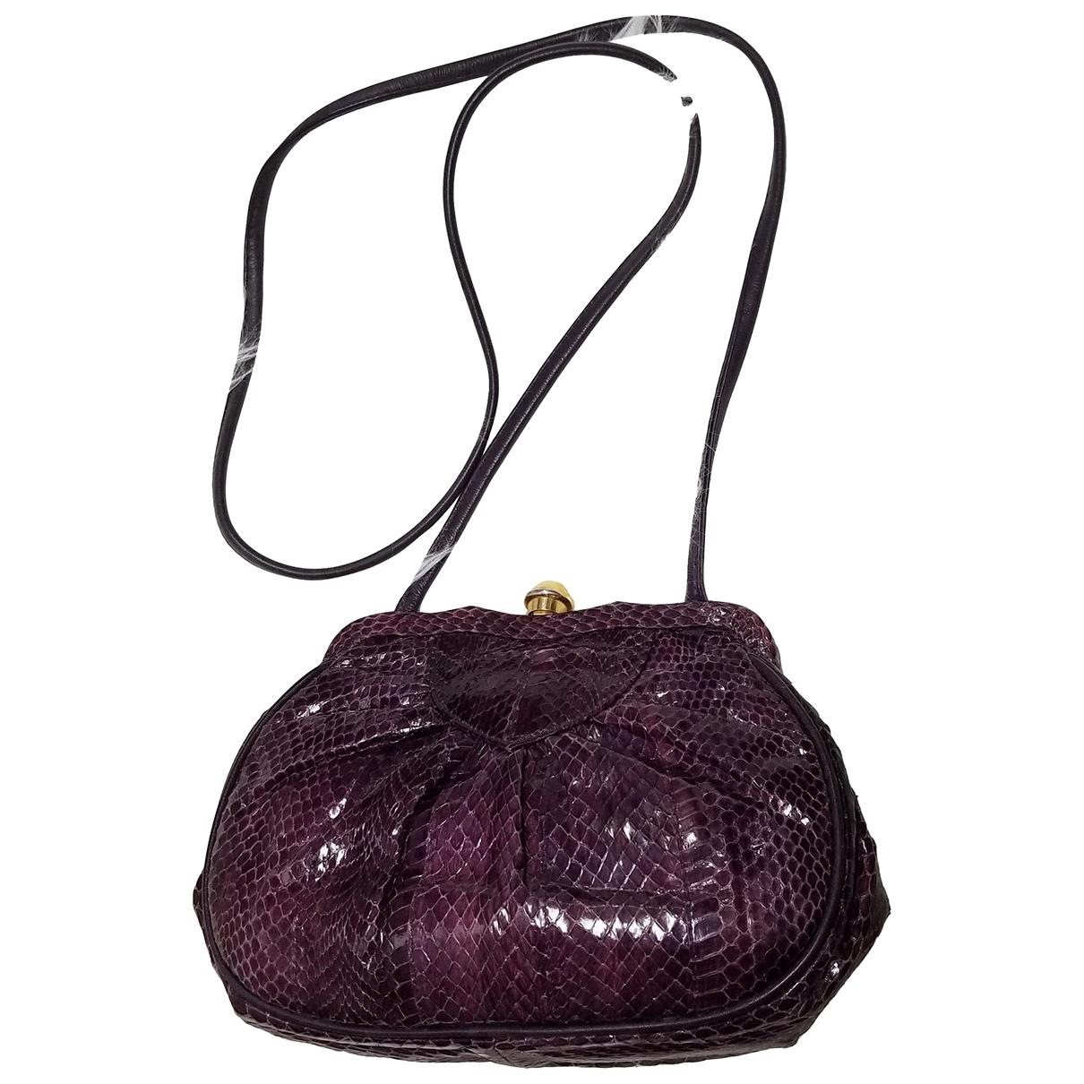 - Sac a main   pour femme en cuir exotique - violet