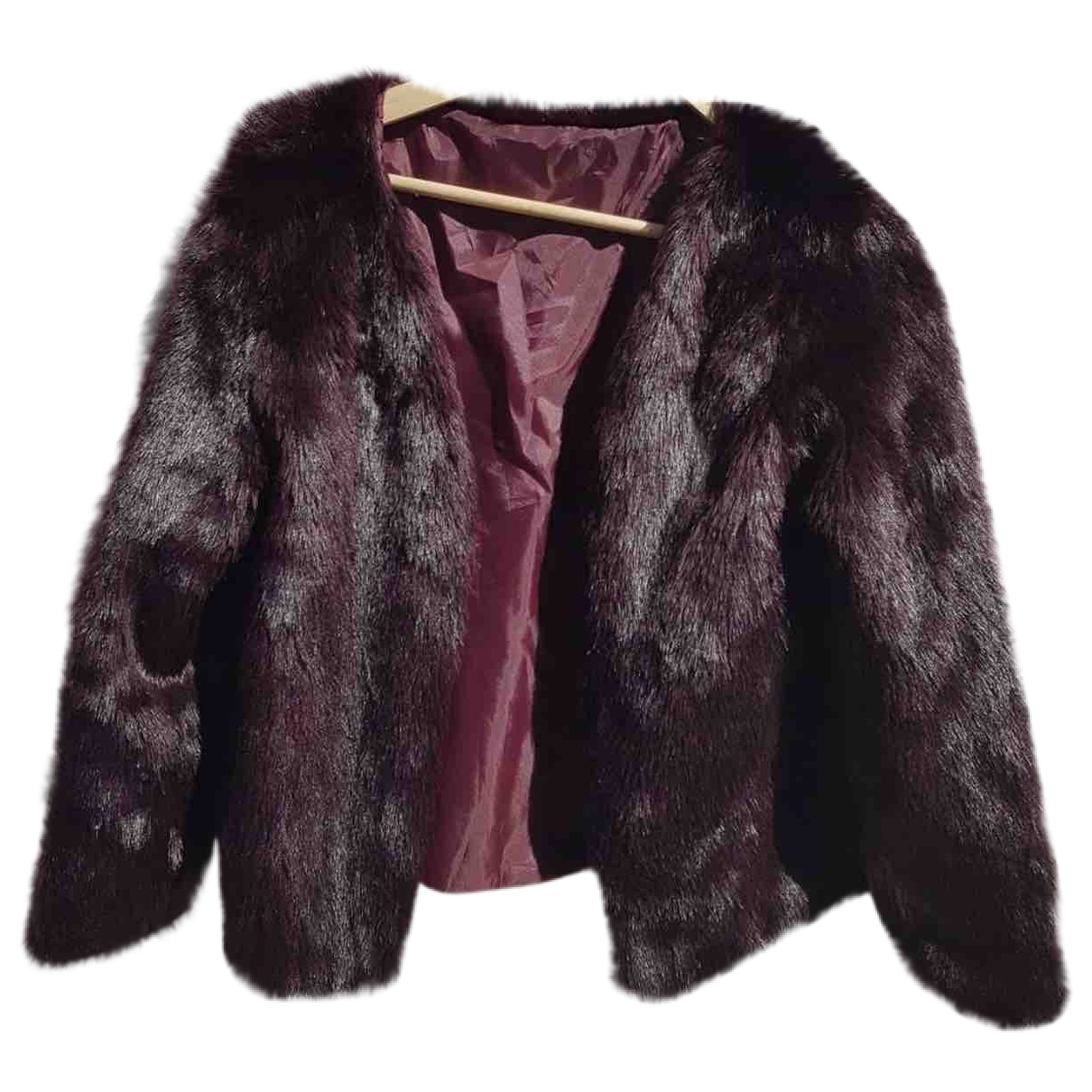 Non Signé / Unsigned \N Burgundy Faux fur jacket for Women M International