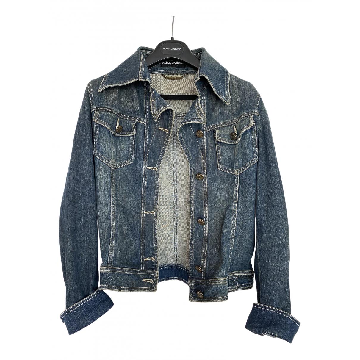 Dolce & Gabbana \N Blue Denim - Jeans jacket for Women 40 IT