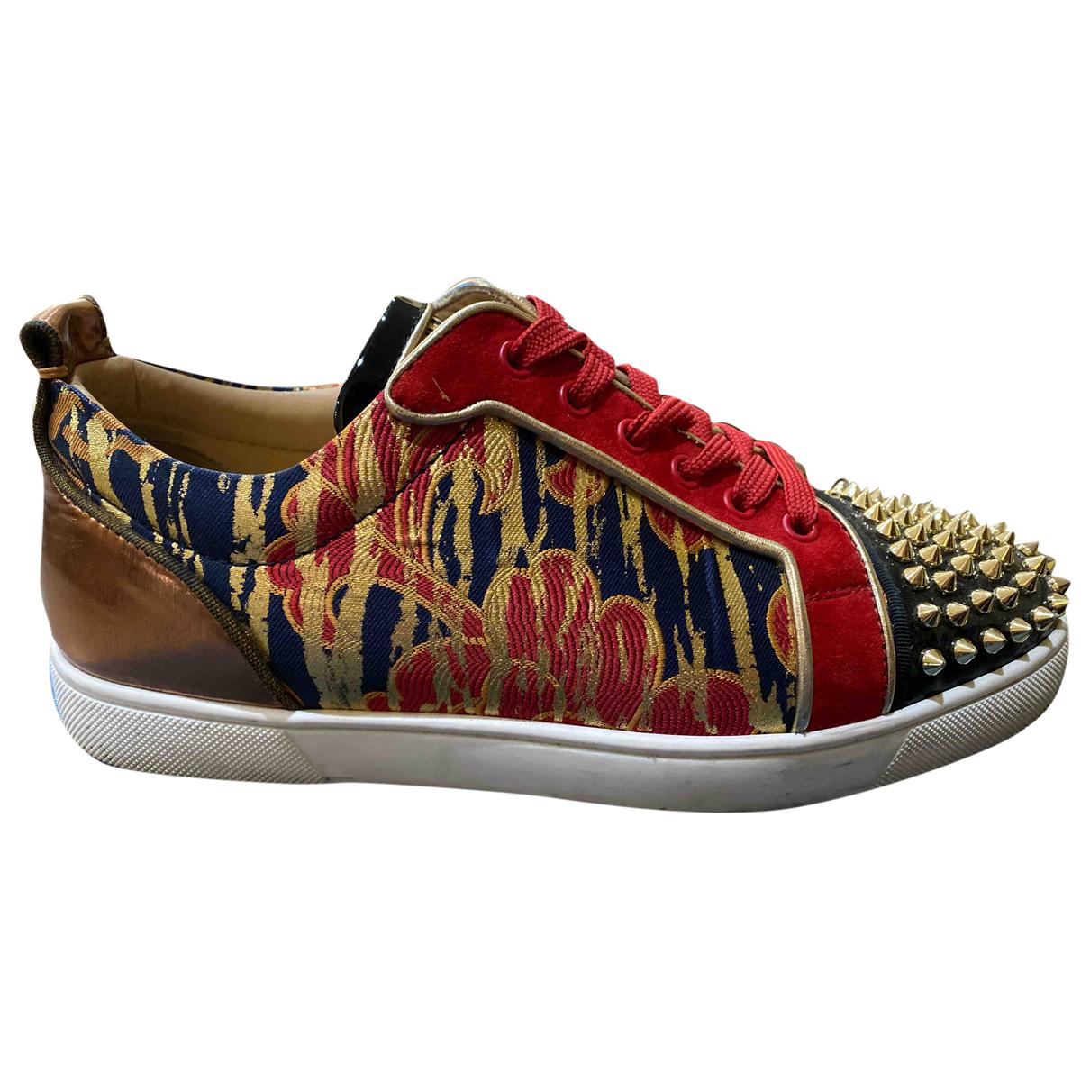 Christian Louboutin \N Sneakers in  Rot Leder